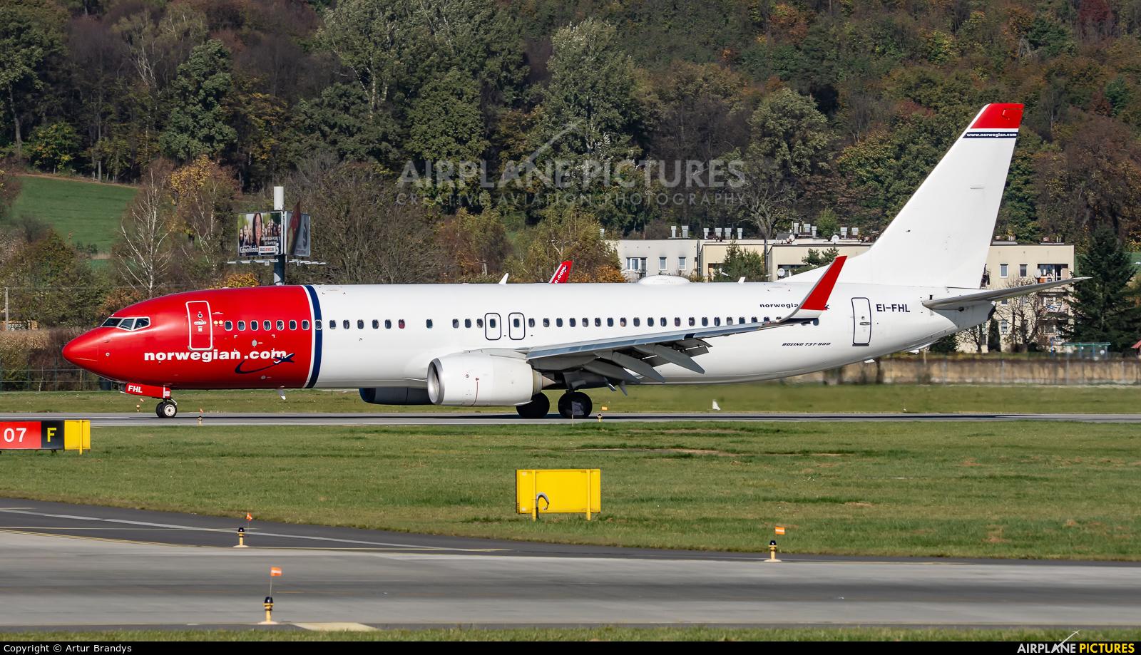Norwegian Air International EI-FHL aircraft at Kraków - John Paul II Intl