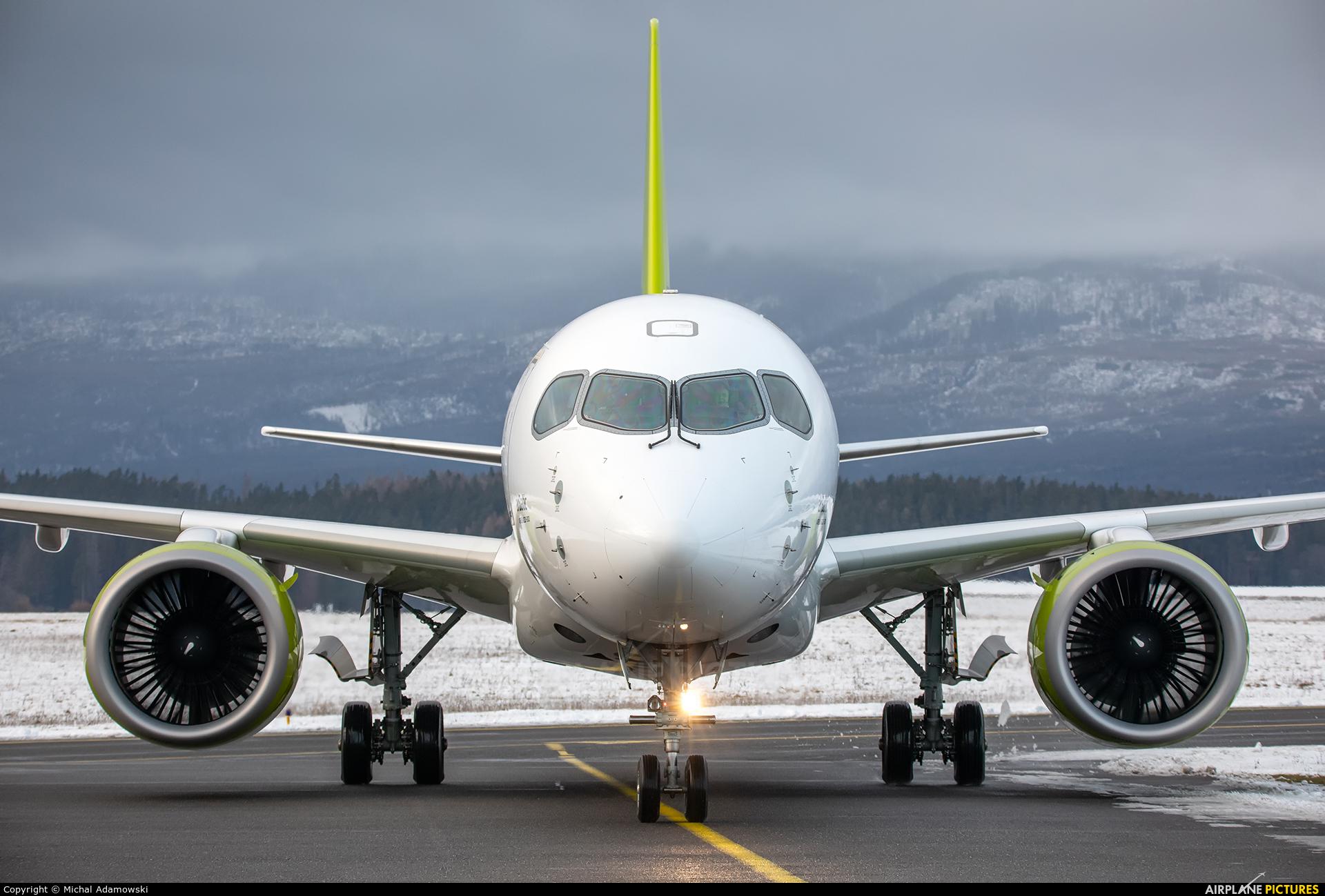 Air Baltic YL-CSN aircraft at Poprad - Tatry