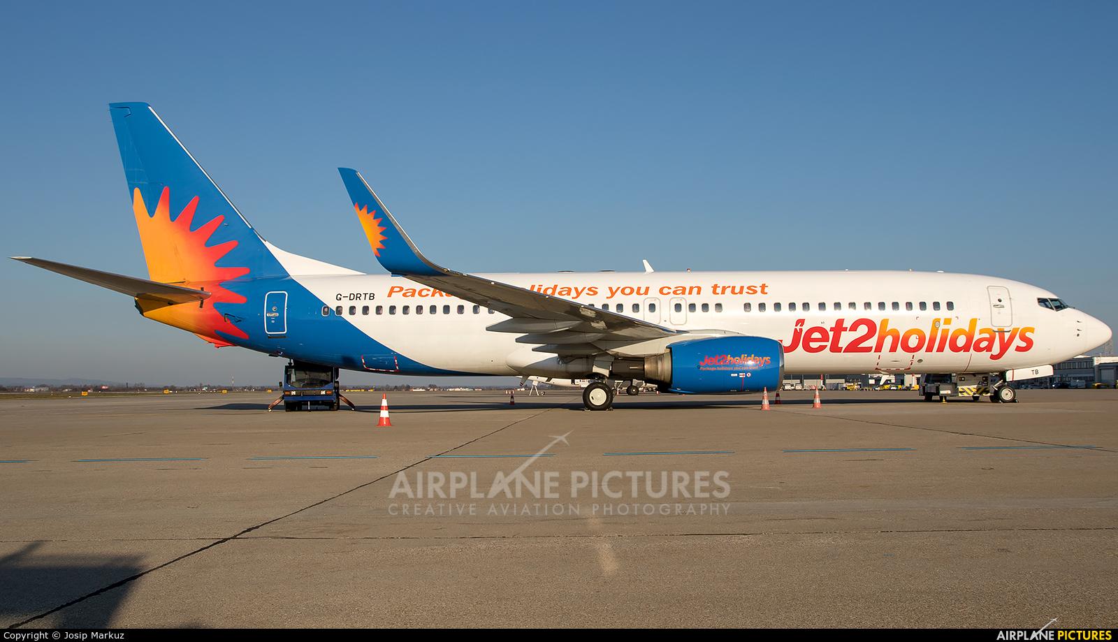Jet2 G-DRTB aircraft at Zagreb