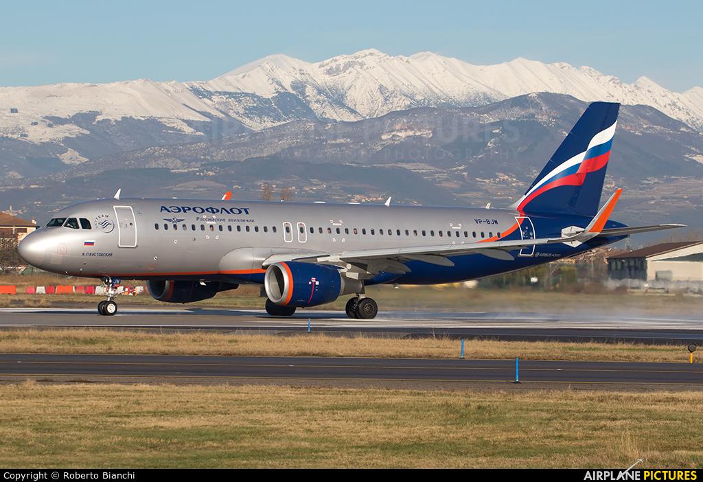 Aeroflot VP-BJW aircraft at Verona - Villafranca