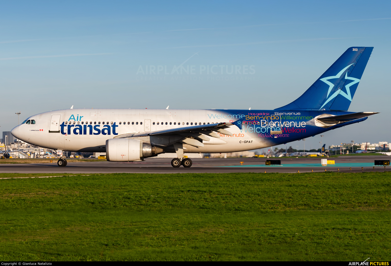 Air Transat C-GPAT aircraft at Lisbon