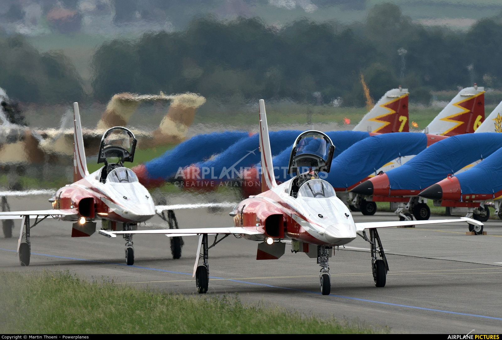 Switzerland - Air Force: Patrouille Suisse J-30** aircraft at Payerne