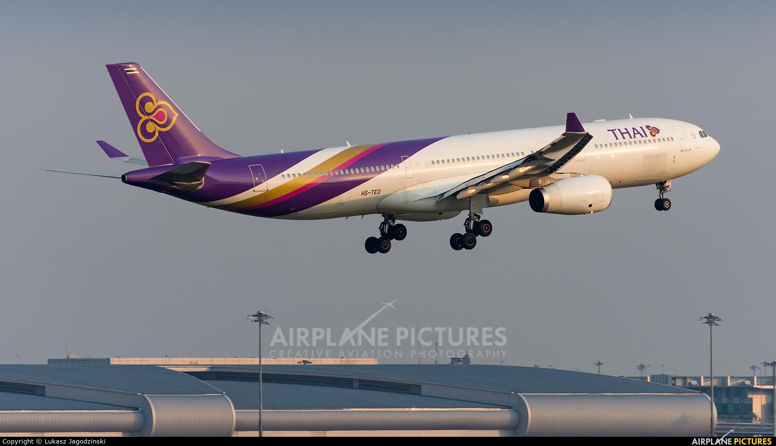 Thai Airways HS-TEO aircraft at Bangkok - Suvarnabhumi