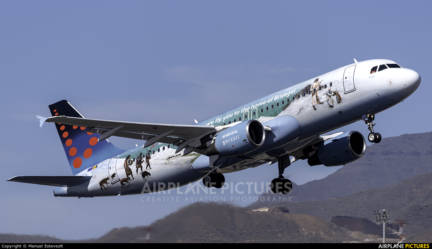 Brussels Airlines OO-SNE aircraft at Tenerife Sur - Reina Sofia
