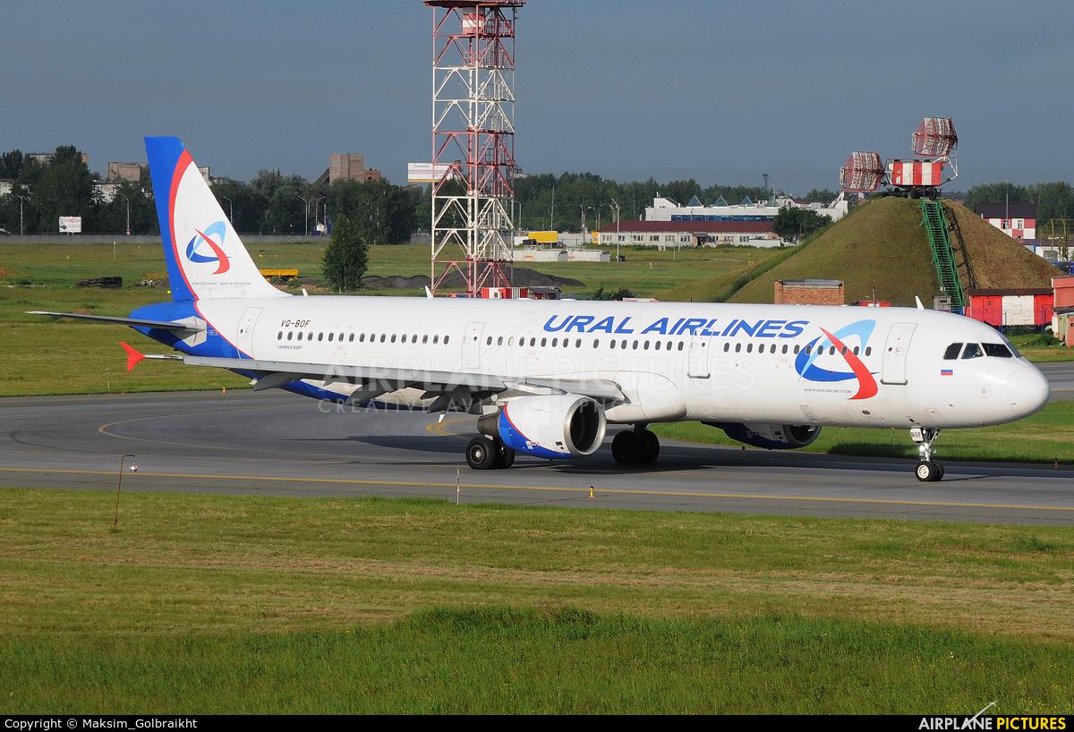 Ural Airlines VQ-BOF aircraft at Omsk Tsentralny
