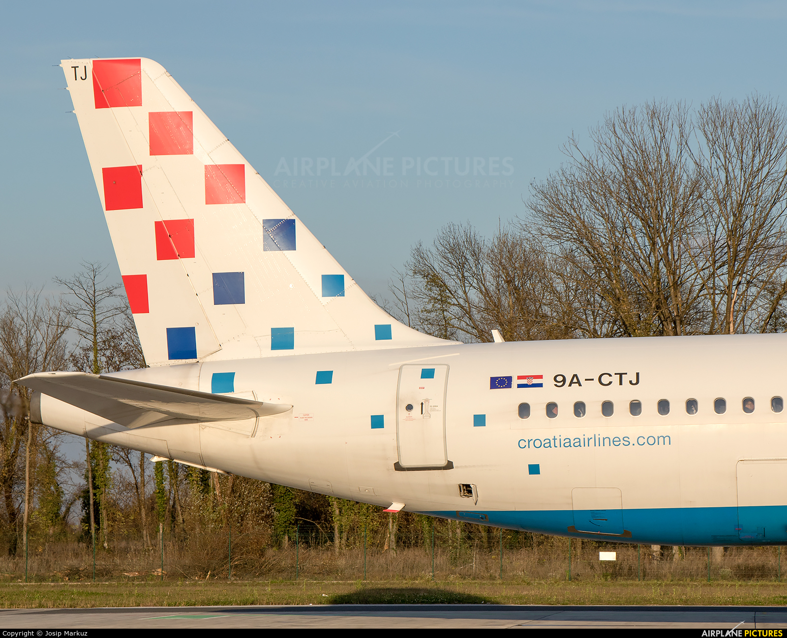 Croatia Airlines 9A-CTJ aircraft at Zagreb