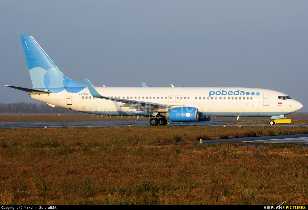 Pobeda VQ-BWI aircraft at Rostov-on-Don