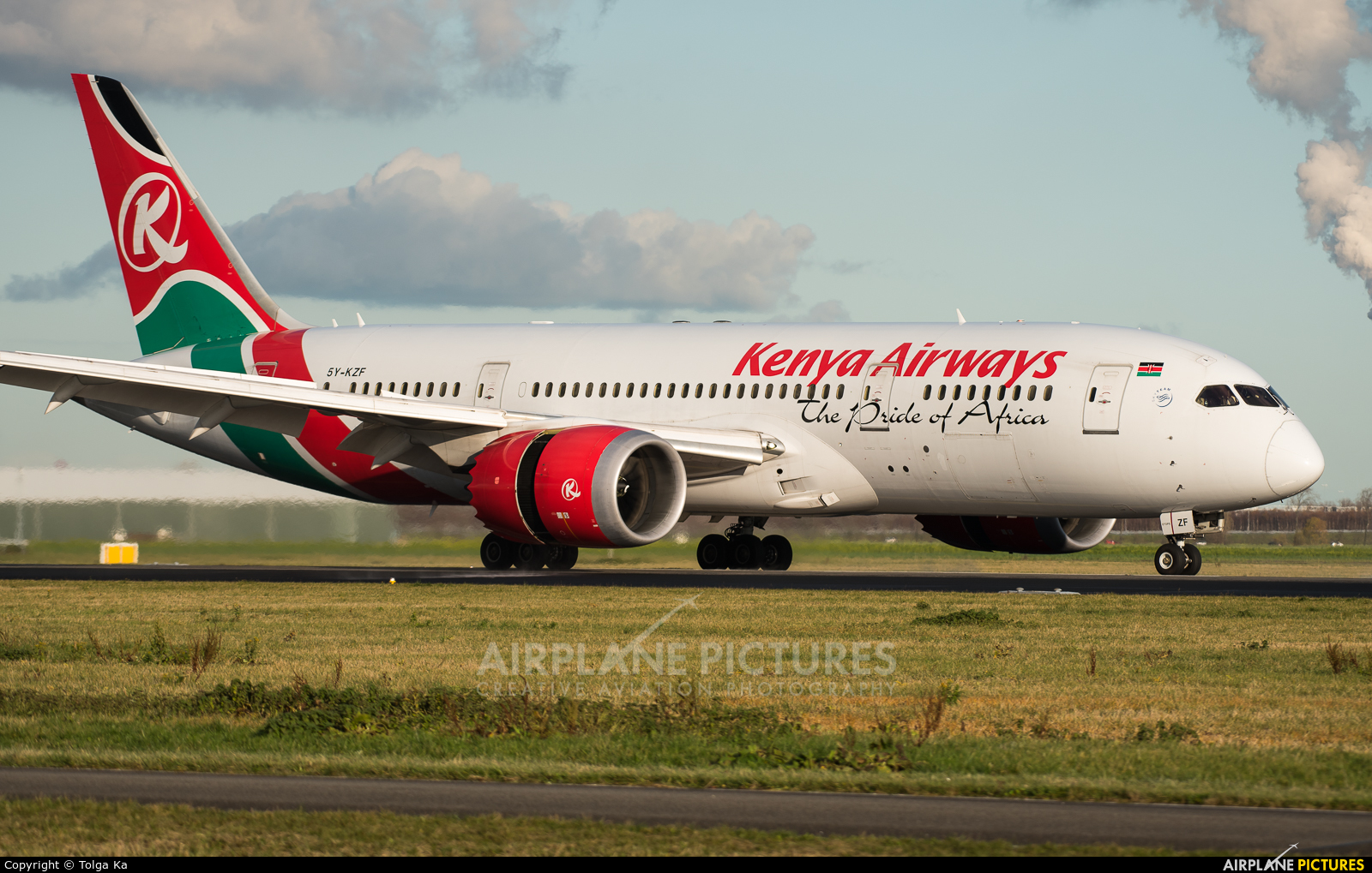Kenya Airways 5Y-KZF aircraft at Amsterdam - Schiphol