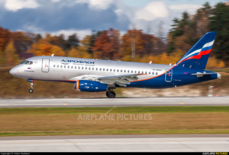Aeroflot RA-89109 aircraft at Moscow - Sheremetyevo