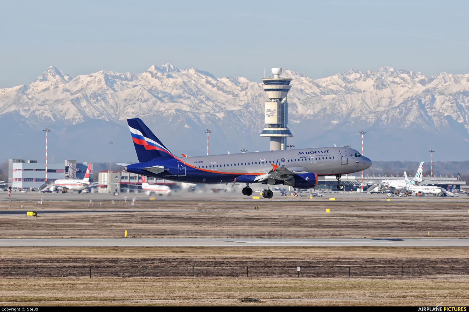 Aeroflot VP-BID aircraft at Milan - Malpensa