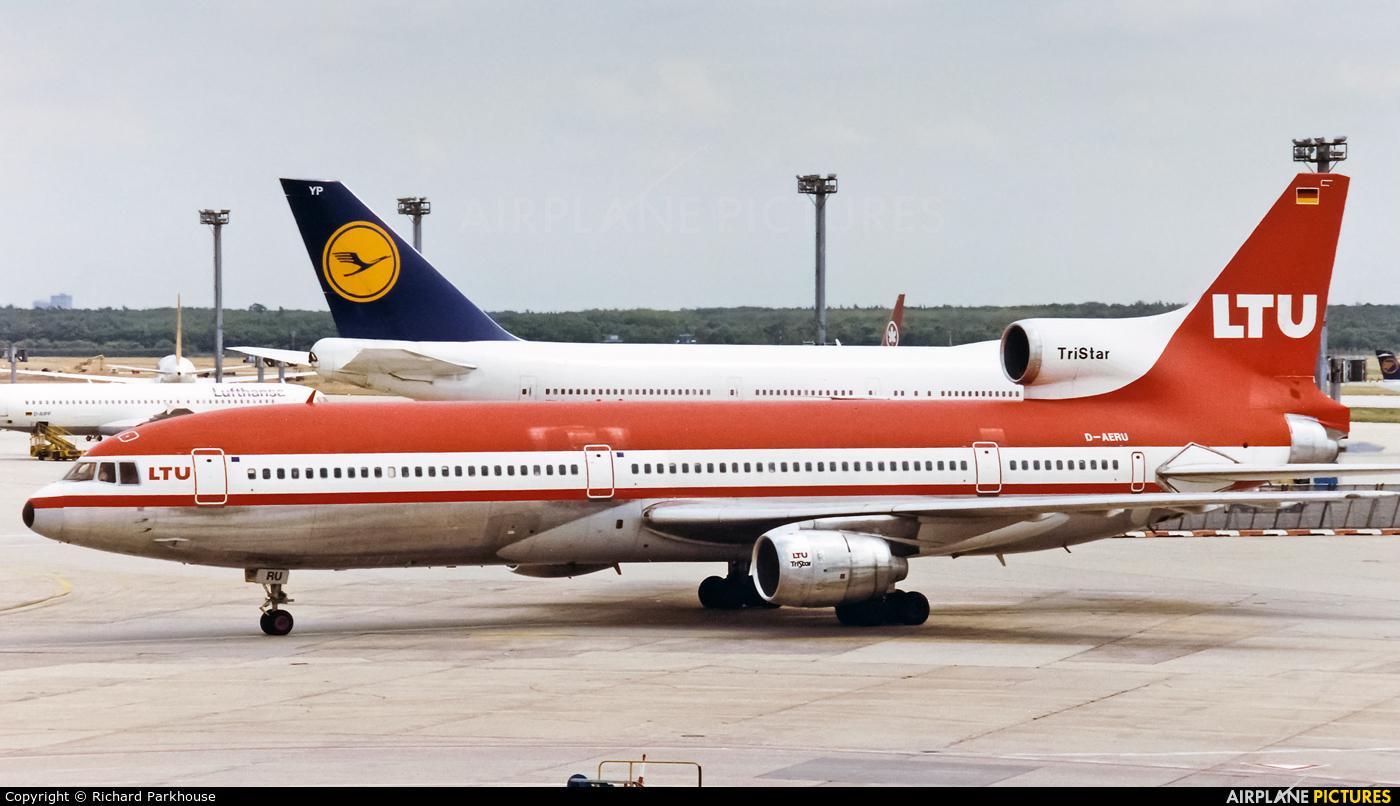 LTU D-AERU aircraft at Frankfurt