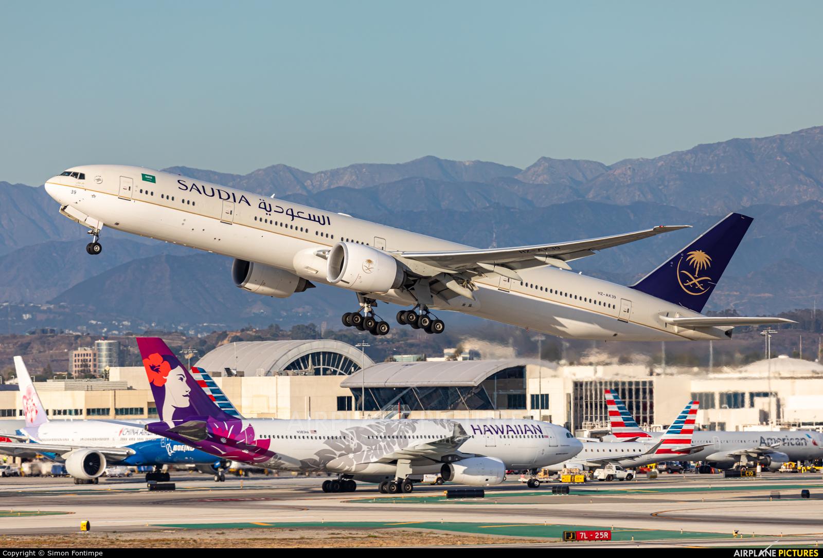 Saudi Arabian Airlines HZ-AK39 aircraft at Los Angeles Intl