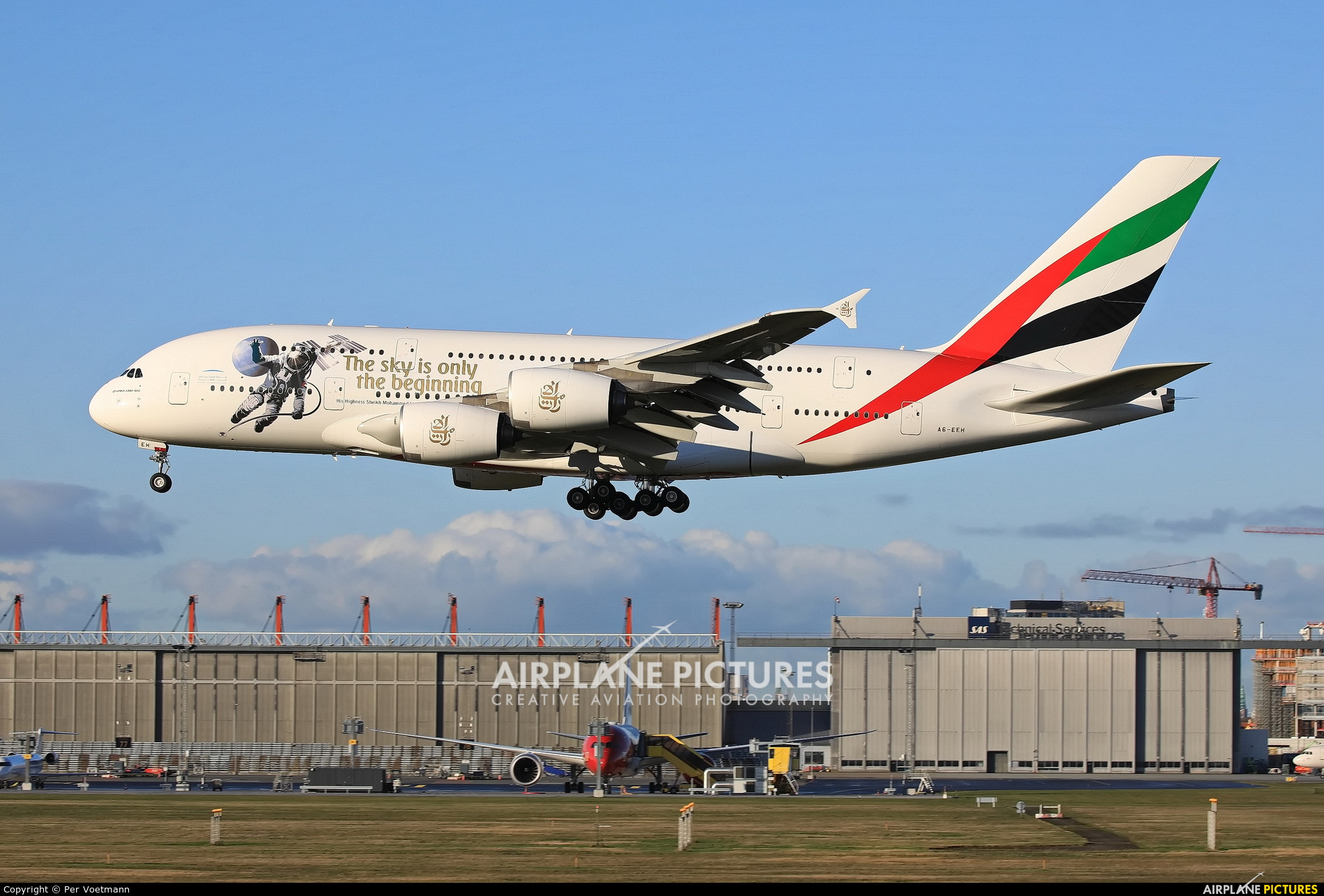 Emirates Airlines A6-EEH aircraft at Copenhagen Kastrup