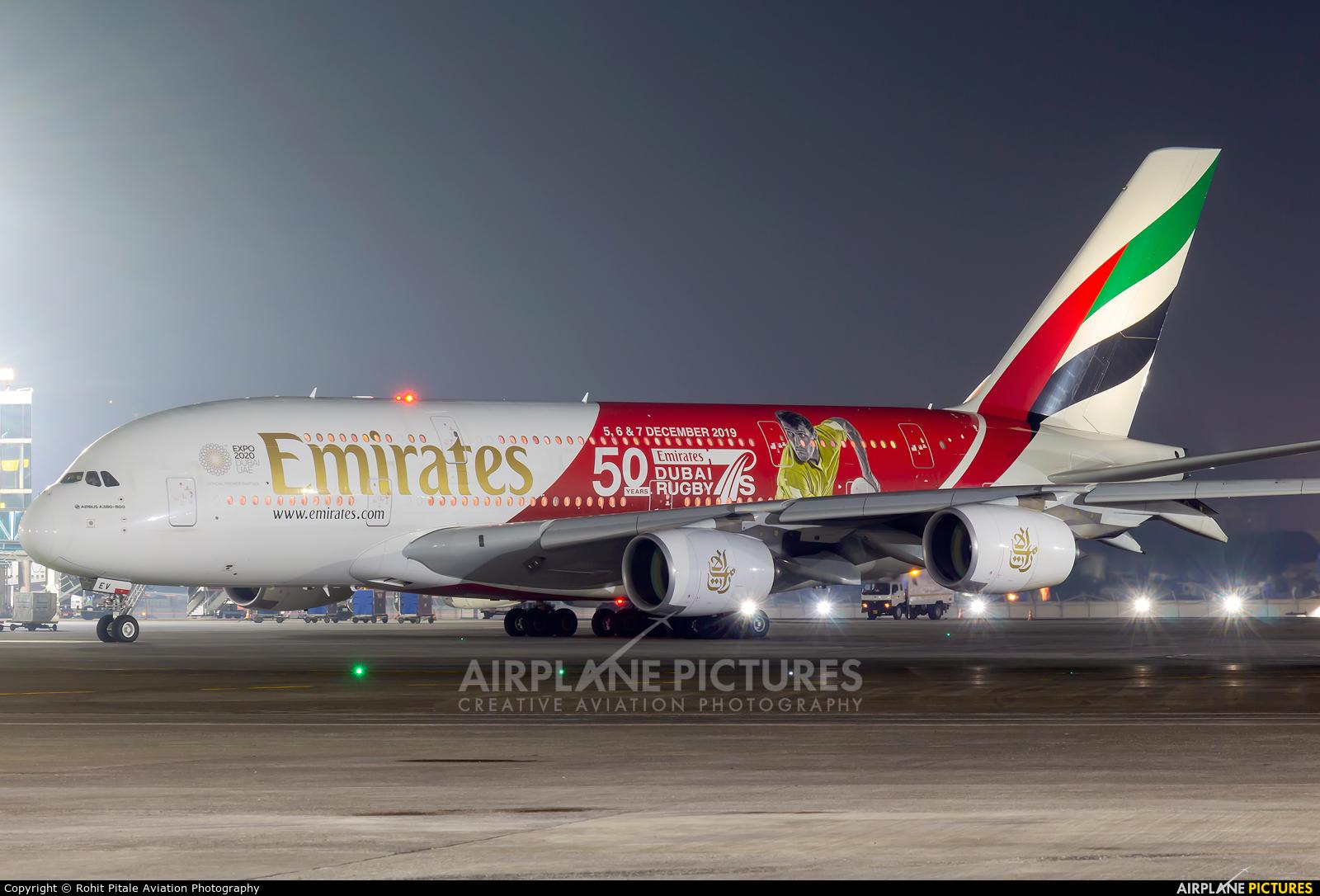 Emirates Airlines A6-EEV aircraft at Mumbai - Chhatrapati Shivaji Intl