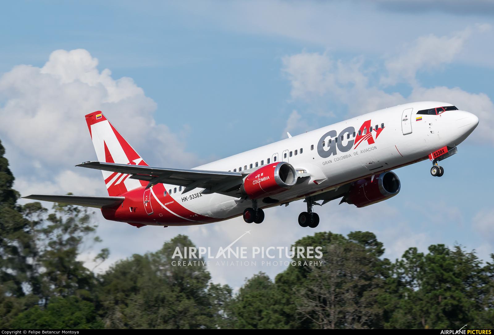 Gran Colombia de Aviación (GCA Airlines) HK-5338X aircraft at Medellin - Jose Maria Cordova Intl