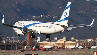 4X-EKU - El Al Israel Airlines Boeing 737-800