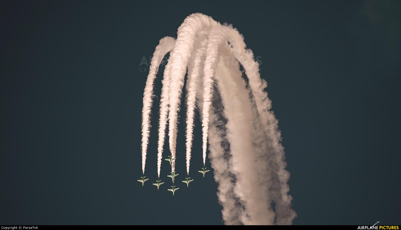 Saudi Arabia - Air Force: Saudi Hawks 8808 aircraft at Jebel Ali Al Maktoum Intl