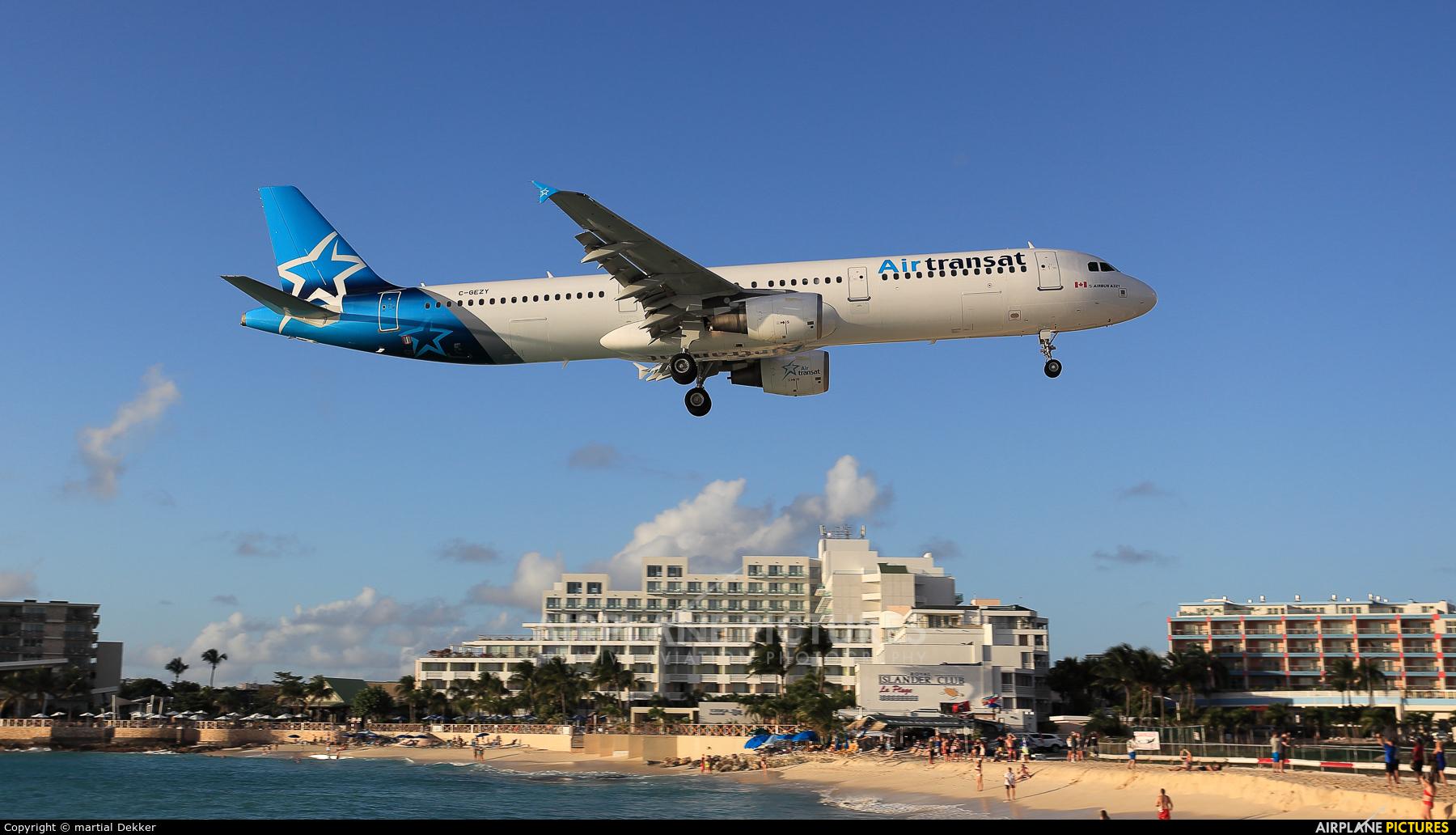 Air Transat - aircraft at Sint Maarten - Princess Juliana Intl
