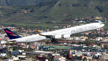 Plus Ultra Airbus A340-600 visited Tenerife Los Rodeos title=