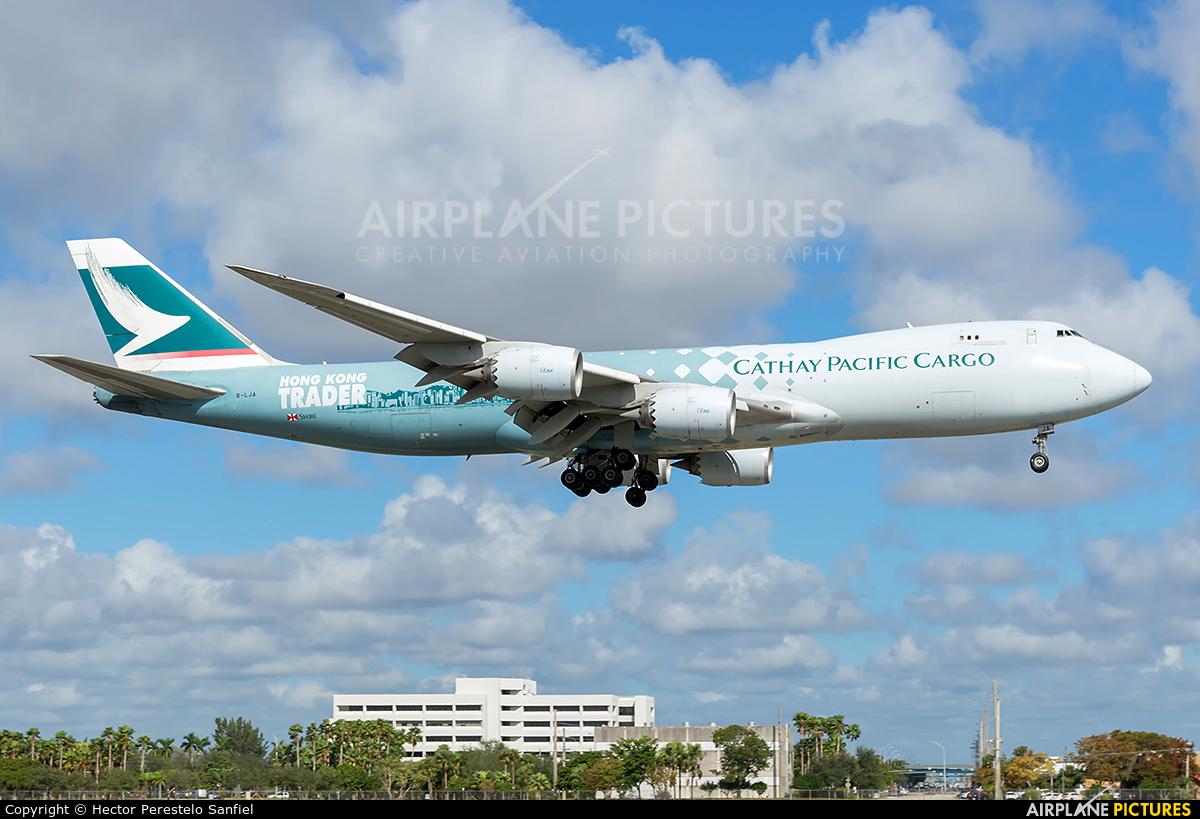 Cathay Pacific Cargo B-LJA aircraft at Miami Intl