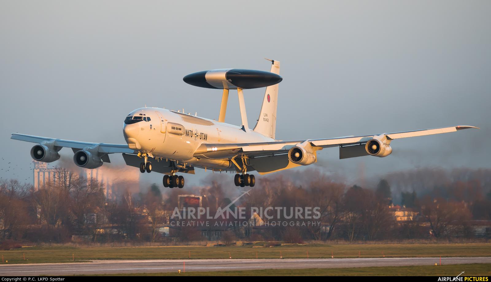 NATO LX-N90452 aircraft at Pardubice