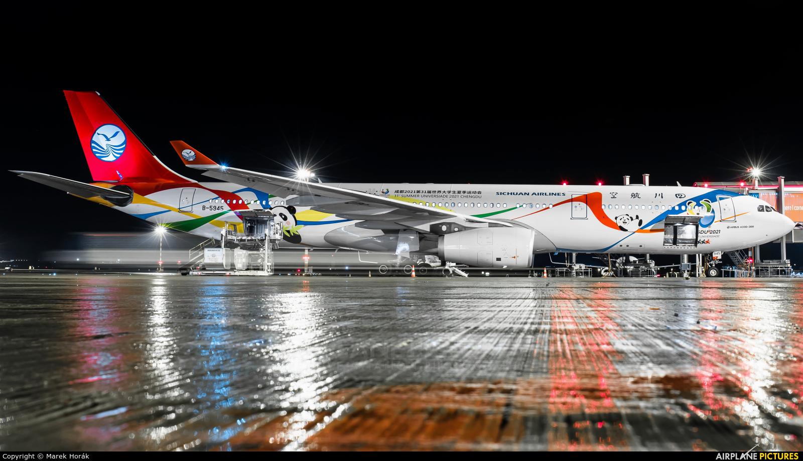 Sichuan Airlines  B-5945 aircraft at Prague - Václav Havel
