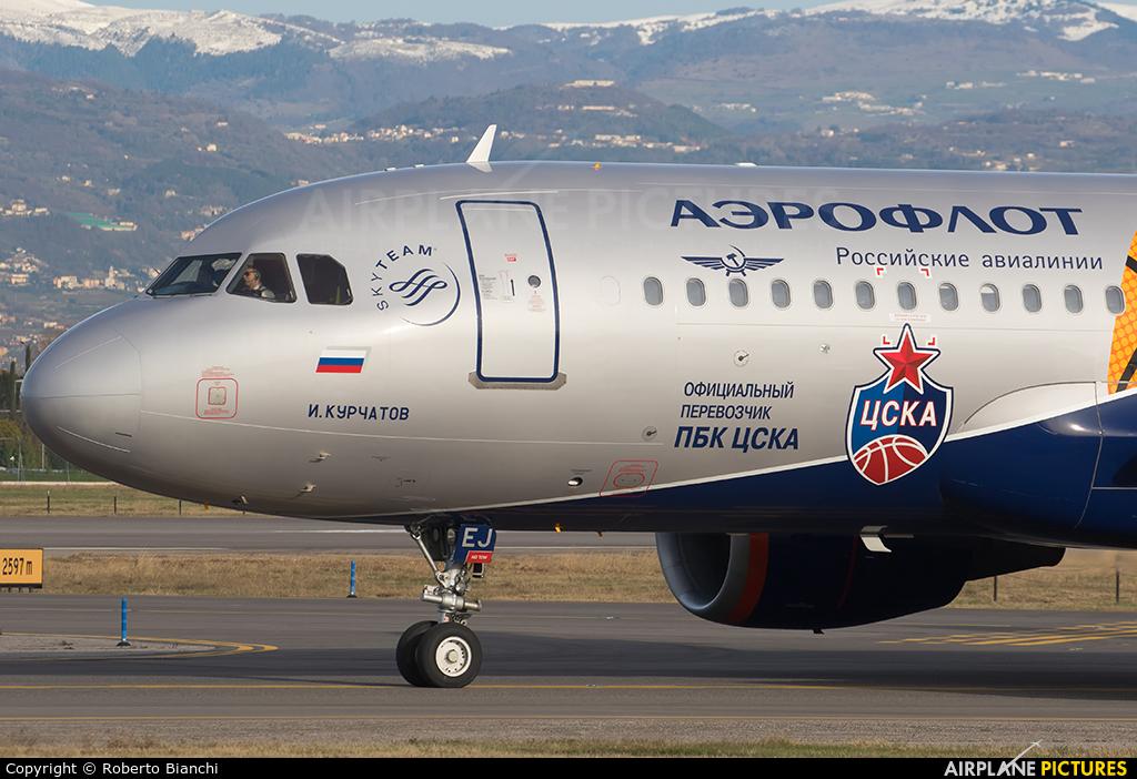 Aeroflot VQ-BEJ aircraft at Verona - Villafranca