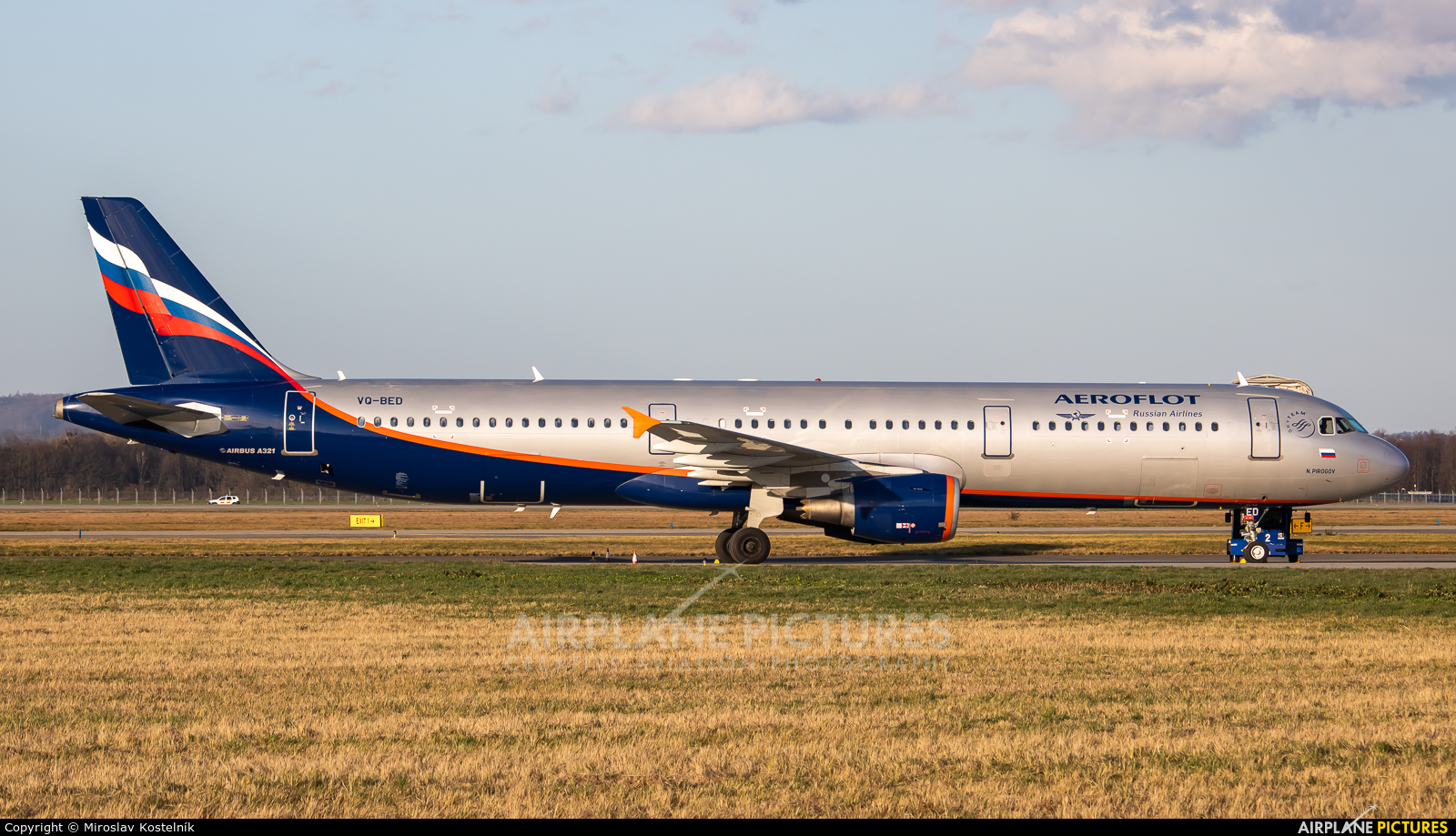 Aeroflot VQ-BED aircraft at Ostrava Mošnov