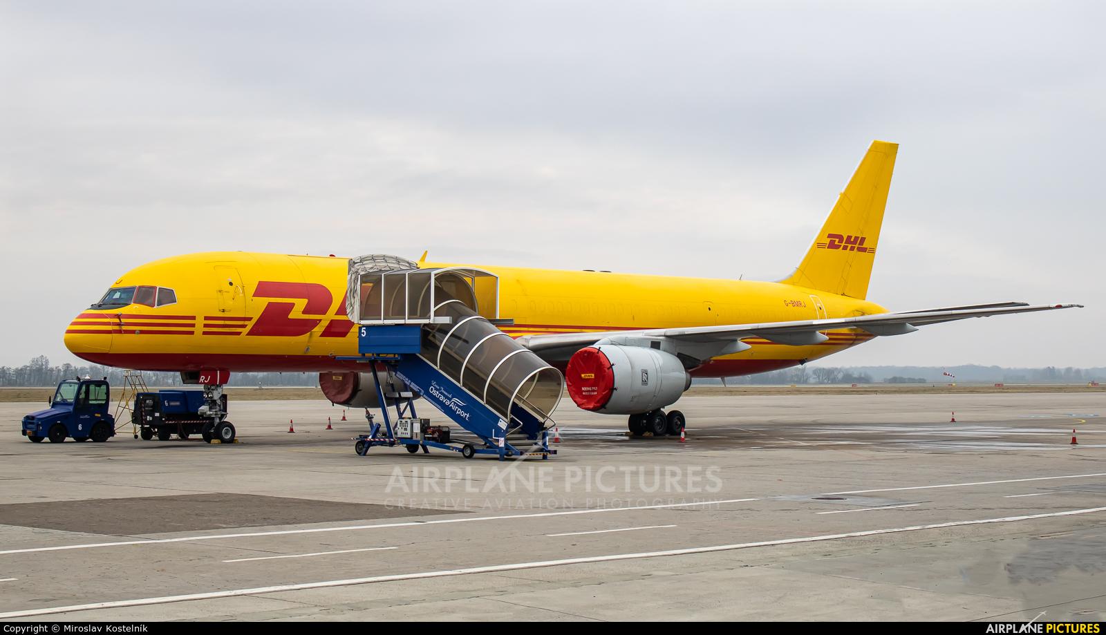 DHL Cargo G-BMRJ aircraft at Ostrava Mošnov