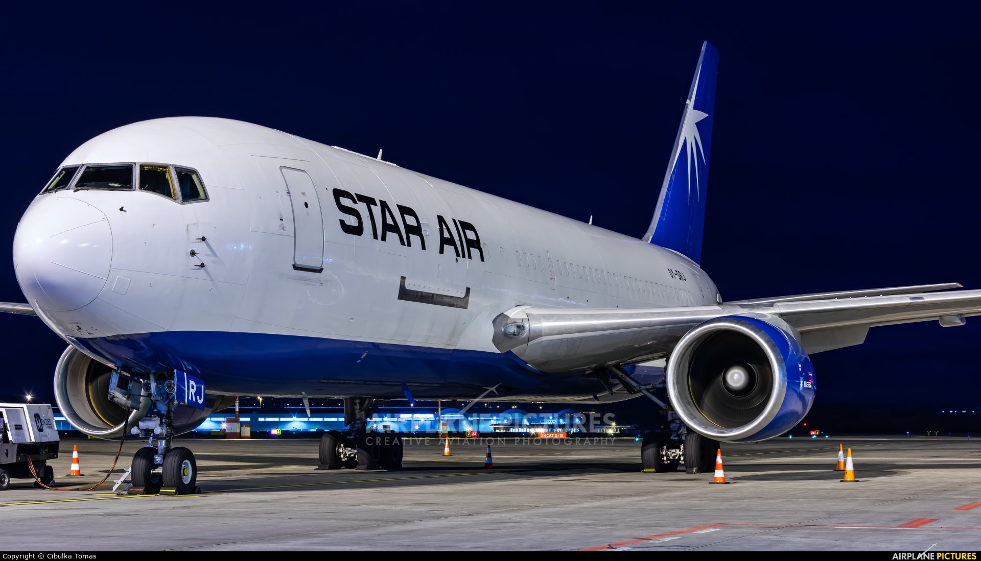 Star Air Freight OY-SRJ aircraft at Prague - Václav Havel