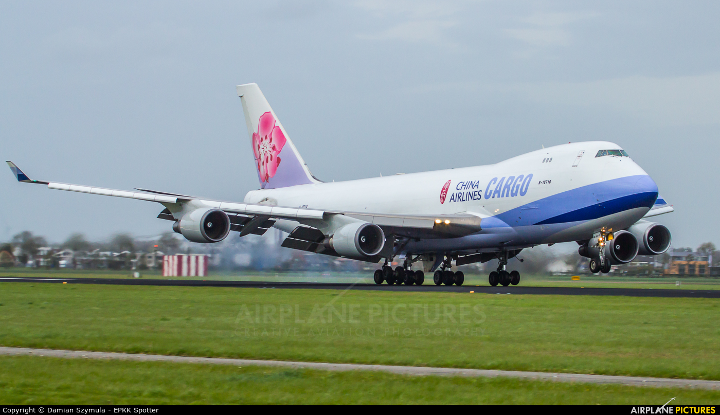 China Airlines Cargo B-18710 aircraft at Amsterdam - Schiphol