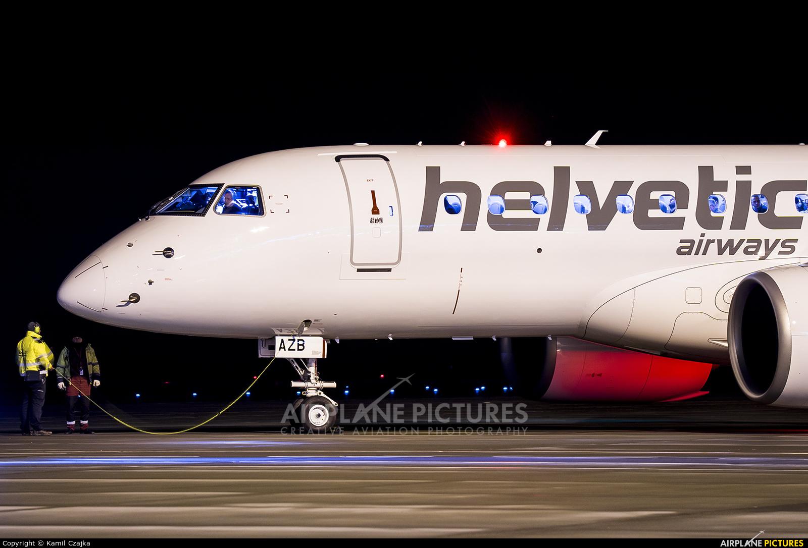 Helvetic Airways HB-AZB aircraft at Wrocław - Copernicus