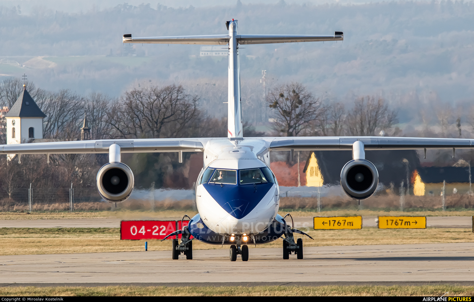Sun Air OY-JJG aircraft at Ostrava Mošnov