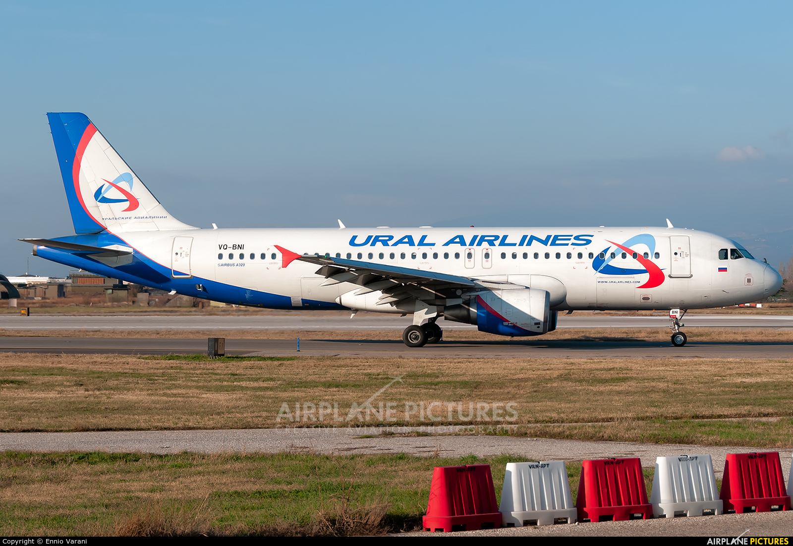 Ural Airlines VQ-BNI aircraft at Verona - Villafranca