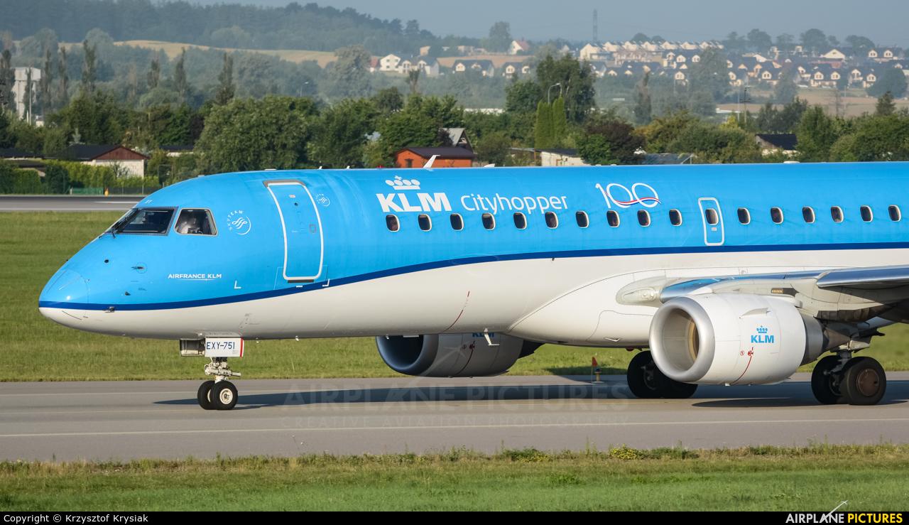 KLM Cityhopper PH-EXY aircraft at Gdańsk - Lech Wałęsa