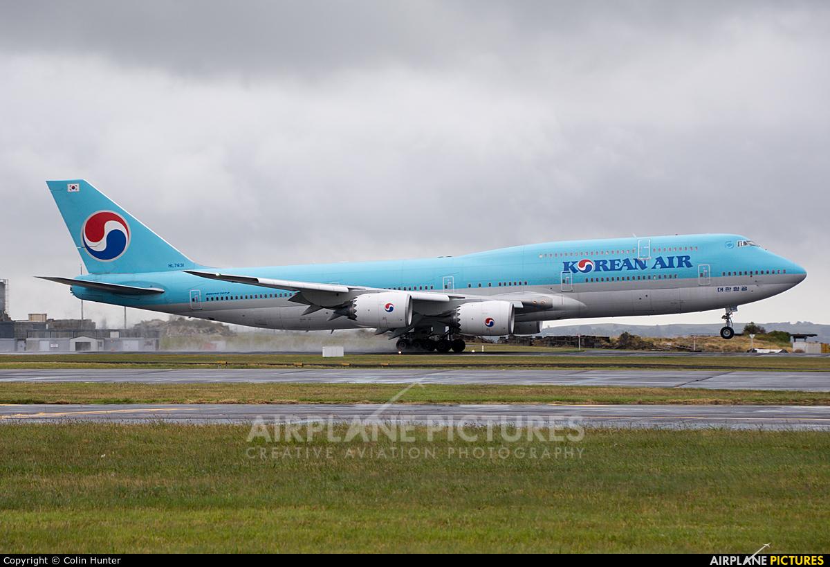 Korean Air HL7631 aircraft at Auckland Intl