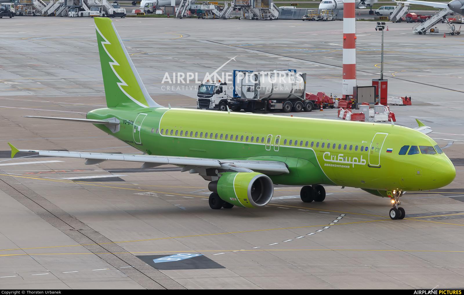 S7 Airlines VQ-BPN aircraft at Düsseldorf