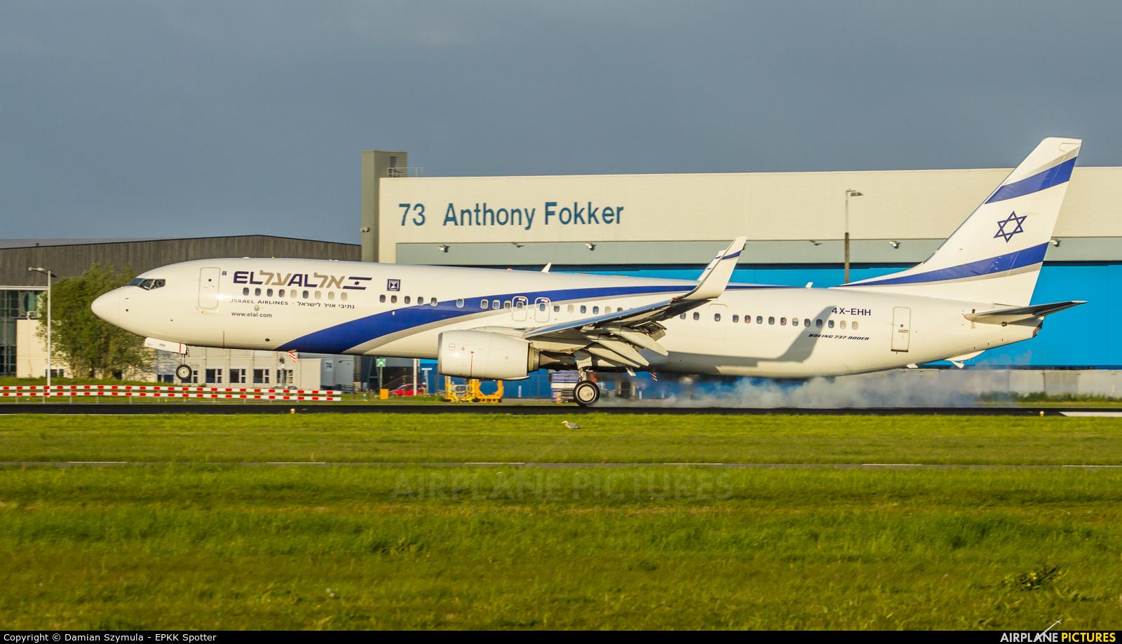 El Al Israel Airlines 4X-EHH aircraft at Amsterdam - Schiphol