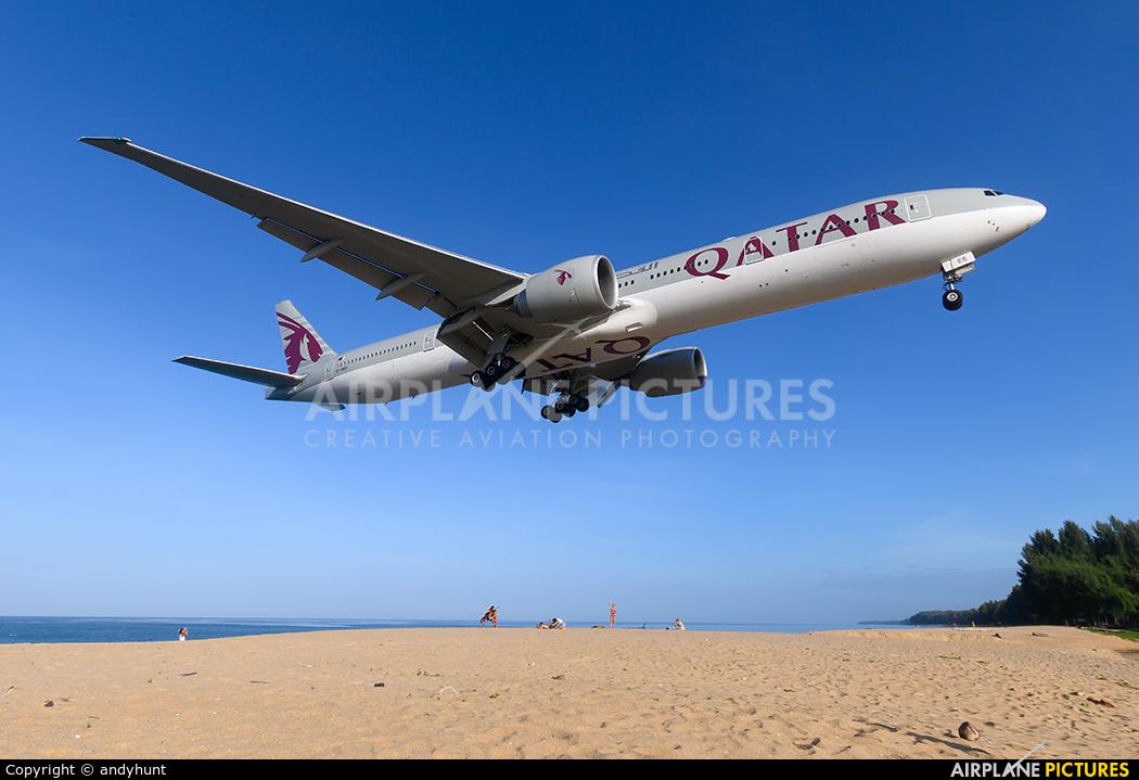 Qatar Airways A7-BEE aircraft at Phuket