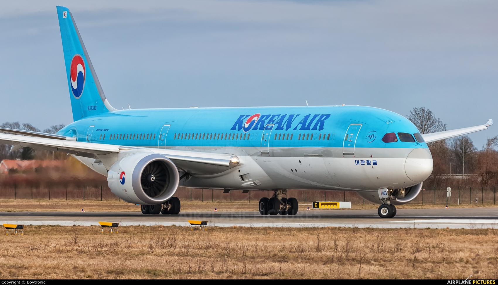 Korean Air HL8083 aircraft at Zagreb