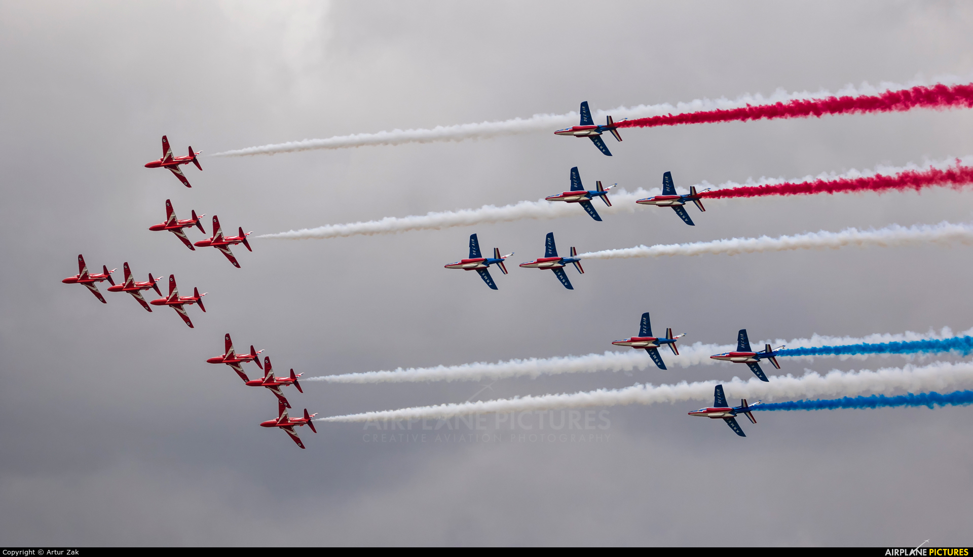 """France - Air Force """"Patrouille de France"""" - aircraft at Fairford"""