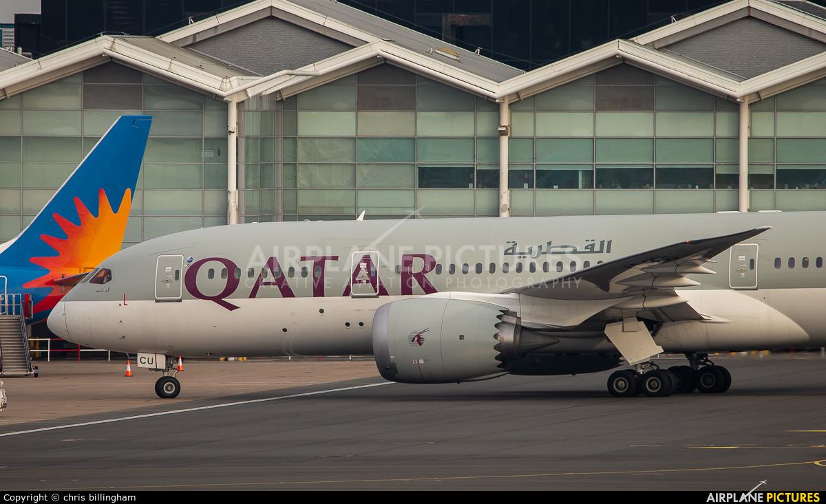 Qatar Airways A7-BCU aircraft at Birmingham