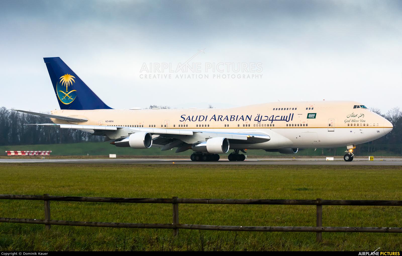 Saudi Arabia - Royal Flight HZ-HM1A aircraft at Basel - Mulhouse- Euro