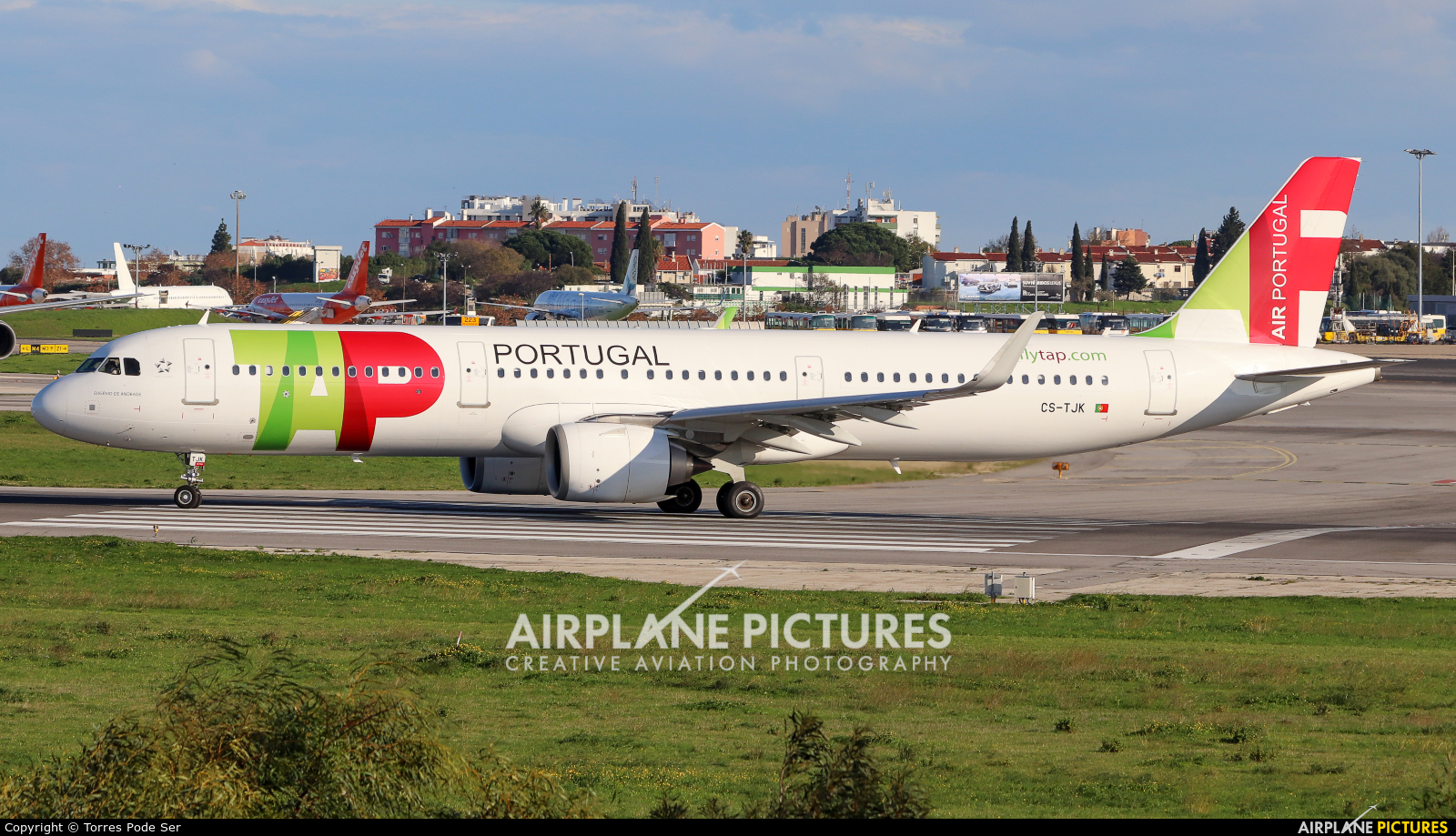 TAP Portugal CS-TJK aircraft at Lisbon