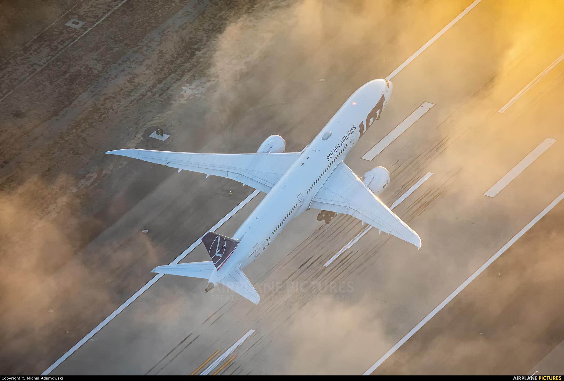 LOT - Polish Airlines SP-LSA aircraft at In Flight - California