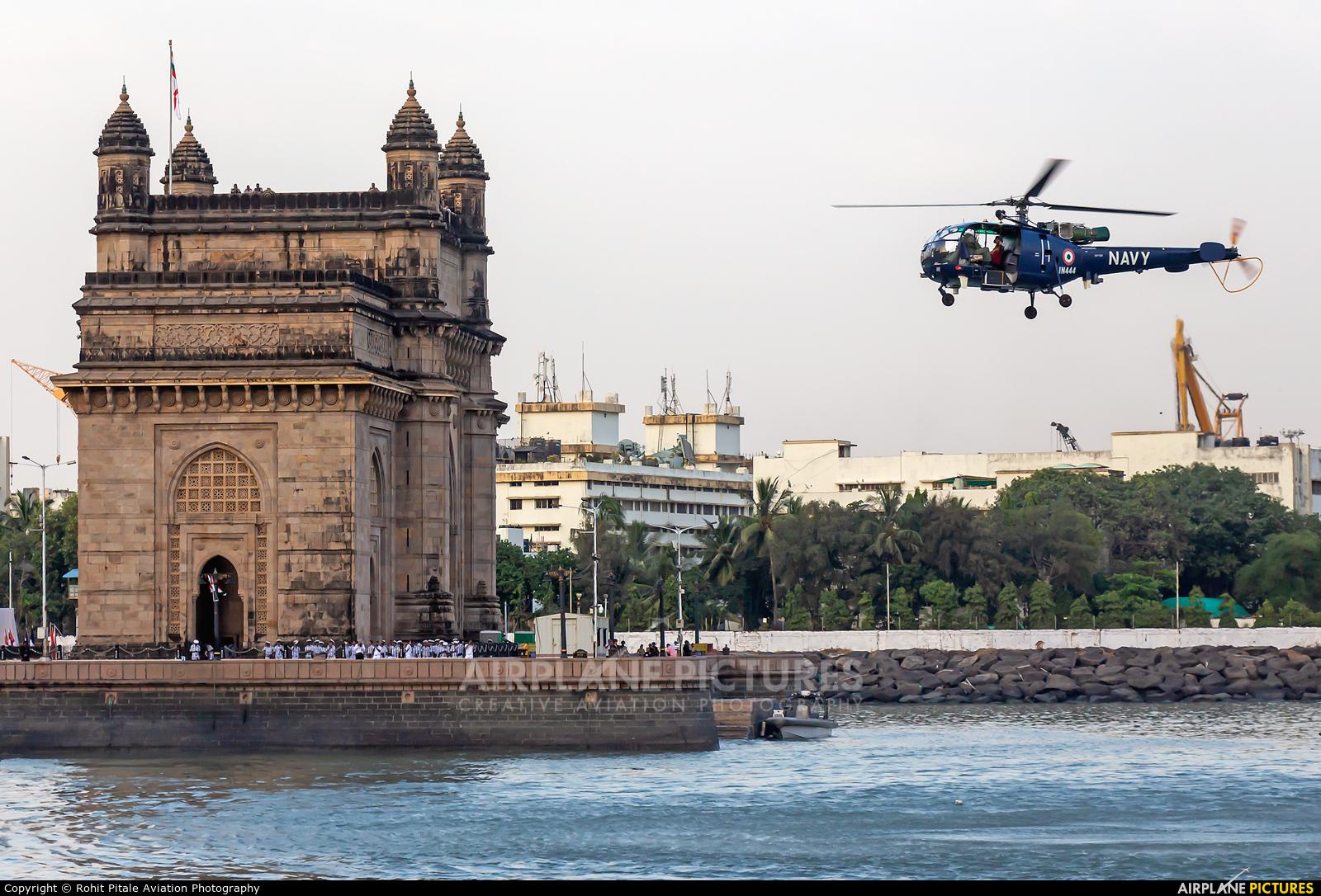 India - Navy IN444 aircraft at Off Airport - India