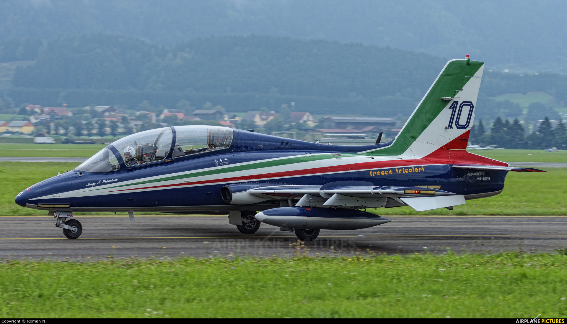 "Italy - Air Force ""Frecce Tricolori"" MM55055 aircraft at Zeltweg"