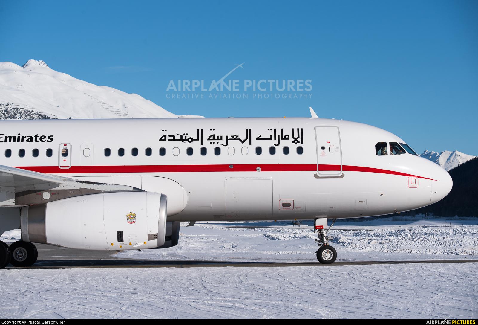 United Arab Emirates - Government A6-SHJ aircraft at Samedan - Engadin