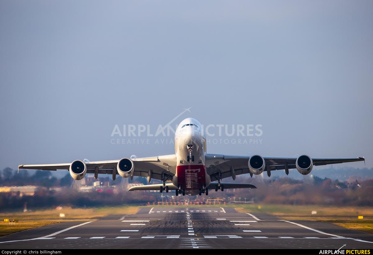 Emirates Airlines A6-EUQ aircraft at Birmingham