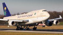 Maintenance of Saudi Arabian B744 in Basel title=